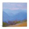 Red Barrel Studio Mountains in the Blues II Painting Print on Wrapped Canvas