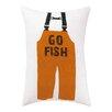 Kate Nelligan Go Fish Indoor / Outdoor Lumbar Pillow