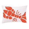 Kate Nelligan Lobster Indoor/Outdoor Lumbar Pillow