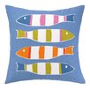 Kate Nelligan Picket Fish Indoor/Outdoor Throw Pillow