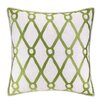 Kate Nelligan Fish Net Embroidered Linen Throw Pillow
