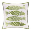 Kate Nelligan 4 Fish Embroidered Throw Pillow