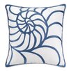 Kate Nelligan Nautilus Embroidered Linen Throw Pillow