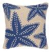 Kate Nelligan Starfish Hooked Wool Throw Pillow