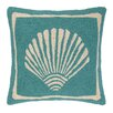 Kate Nelligan Single Scallop Hooked Wool Throw Pillow
