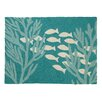 Kate Nelligan Oceanic Hooked Turquoise Area Rug