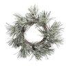Boston International Snowy Pine Wreath with Cone