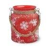 Boston International Snowflake Glass Lantern