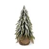 Boston International 11'' White and Green Fir Tree Artificial Christmas Tree in Jute Base