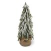 Boston International 14'' White and Green Fir Tree Artificial Christmas Tree in Jute Base