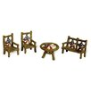 Boston International 4 Piece Twig Stars and Stripes Fairy Furniture Set