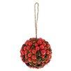 Boston International Berry Ball Ornament (Set of 2)