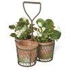 3-Piece Terracotta Pot Planter Set - Boston International Planters