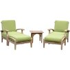 Cambridge Casual Monterey 5 Piece Lounge Seating Group with Cushion