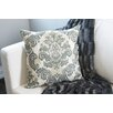 Flato Home Products Emerald Damask Throw Pillow