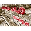 WallArt Landscapes Shoes Photographic Print in Red