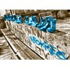 WallArt Landscapes Shoes Photographic Print in Cyan