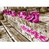 WallArt Landscapes Shoes Fotodruck in Magenta