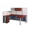 Bush Business Furniture Office-in-an-Hour U-Shape Desk Office Suite with Metal Frame