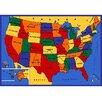 Sintechno USA Map Area Rug