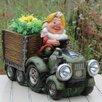 Sintechno Solar Powered Gnome Truck Statue