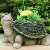 Wise Turtle with Moss Covered Shell Statue - Sintechno Inc Garden Statues and Outdoor Accents