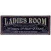 PD Global 50 cm Wandschild Ladies Room