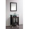 "MTD Vanities Beliza 24"" Single Sink Bathroom Vanity Set with Mirror"