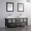 "MTD Vanities Malta 71"" Double Bathroom Vanity Set with Mirrors"