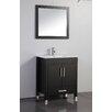 "MTD Vanities Monaco 30"" Single Sink Bathroom Vanity Set with Mirror"