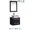 "MTD Vanities Malta 24"" Single Sink Wall Mounted Bathroom Vanity Set with Mirror"