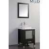 "MTD Vanities Malta 24"" Single Sink Bathroom Vanity Set with Mirror"