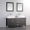 "MTD Vanities Aruba 60"" Double Bathroom Vanity Set with Mirrors"