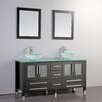 "MTD Vanities Cuba 61"" Double Bathroom Vanity Set with Mirrors"