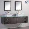 "MTD Vanities Nepal 72"" Floating Double Bathroom Vanity Set with Mirrors"