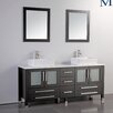 "MTD Vanities Malta 61"" Double Bathroom Vanity Set with Mirrors"