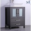 """MTD Vanities Jordan 24"""" Single Sink Bathroom Vanity Set with Mirror"""