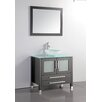 "MTD Vanities Cuba 36"" Single Sink Bathroom Vanity Set with Mirror"