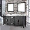 "MTD Vanities Ricca 72"" Double Sink Bathroom Vanity Set with Mirrors"