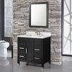 """MTD Vanities Ricca 36"""" Single Sink Bathroom Vanity Set with Mirror"""