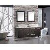 "MTD Vanities Nepal 63"" Floating Double Bathroom Vanity Set with Mirrors"