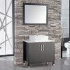 "MTD Vanities Aruba 36"" Single Sink Bathroom Vanity Set with Mirror"