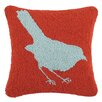 Laurel and Mayfair Vanderbilt Bird Hooked Wool Throw Pillow