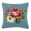 Laurel and Mayfair Vanderbilt Floral Hooked Wool Throw Pillow