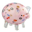 Diamond Star Glass Pig Figurine