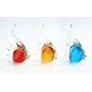 Diamond Star Glass Glass Fish Figurine (Set of 9)