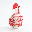 Diamond Star Glass Glass Chicken Figurine