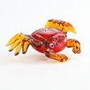 Diamond Star Glass Glass Crab Figurine