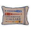 Boston International Life is Better at the Lake Throw Pillow