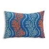 Essential Coastal Coral Garden Toss Lumbar Pillow